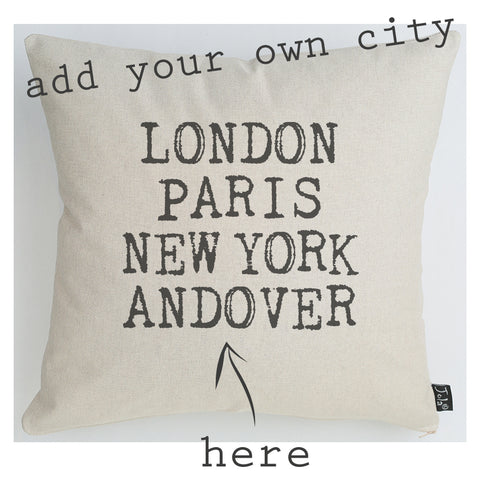 Personalised City Cushion Retro