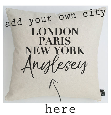 Personalised City Cushion Vogue