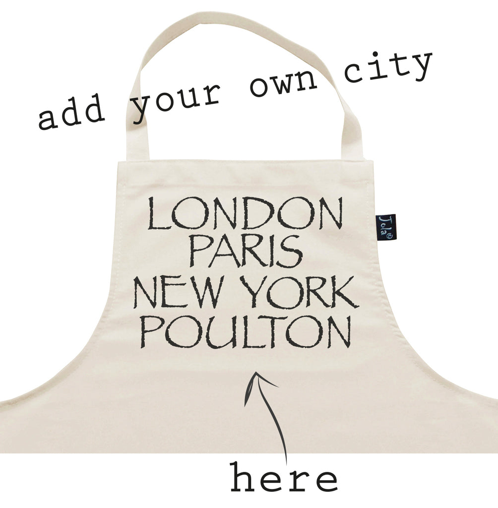 Personalised City Font 2 Apron