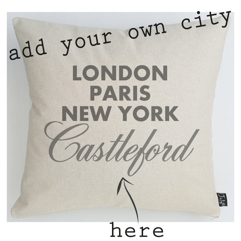 Personalised City Cushion Sparkle