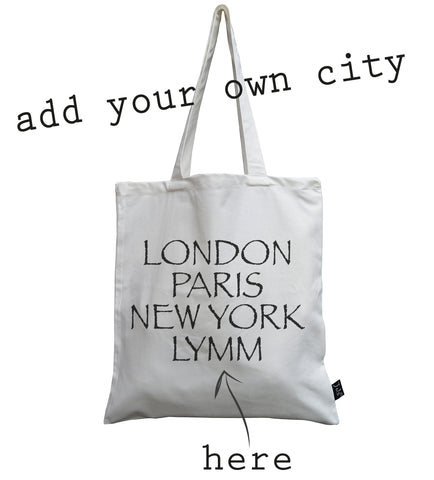 Personalised City Font 2 Canvas Bag