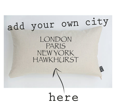 Personalised City Cushion font 2