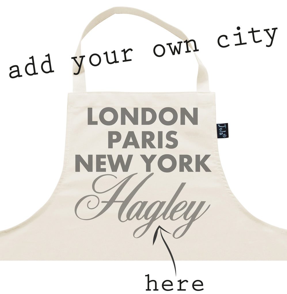 Personalised City Sparkle Apron