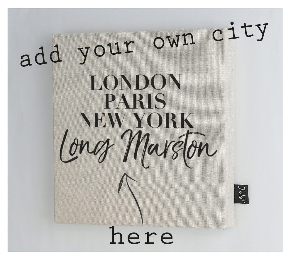 Personalised City Vogue Canvas frame