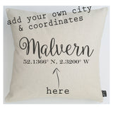 Personalised Coordinates cushion