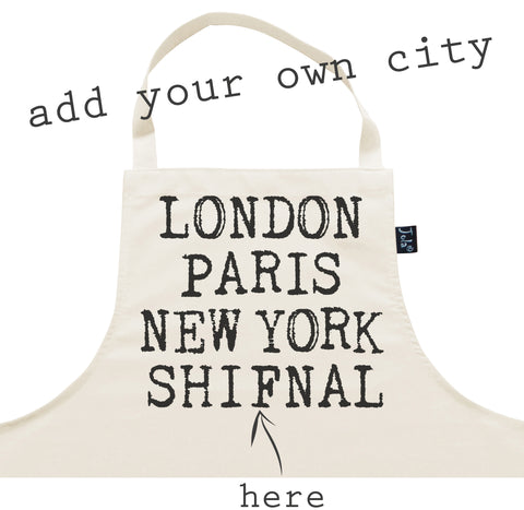 Personalised City Retro Apron