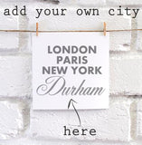 Personalised Sparkle City square card