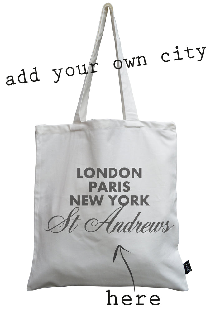 Trade only Personalised Sparkle City canvas bag