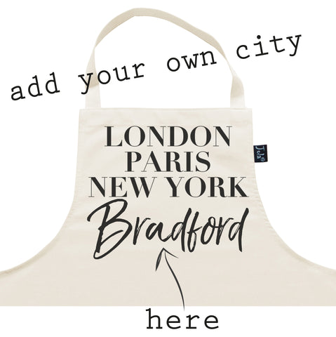Personalised City Vogue Apron
