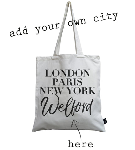Personalised City Vogue canvas bag