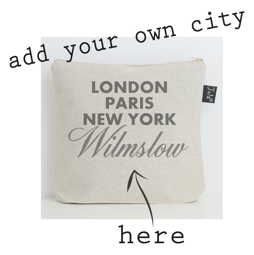 Trade only Personalised Sparkle City wash bag