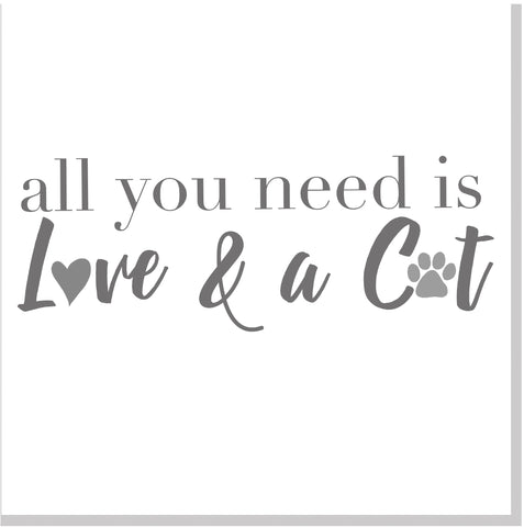 All you need is love and a Cat square card