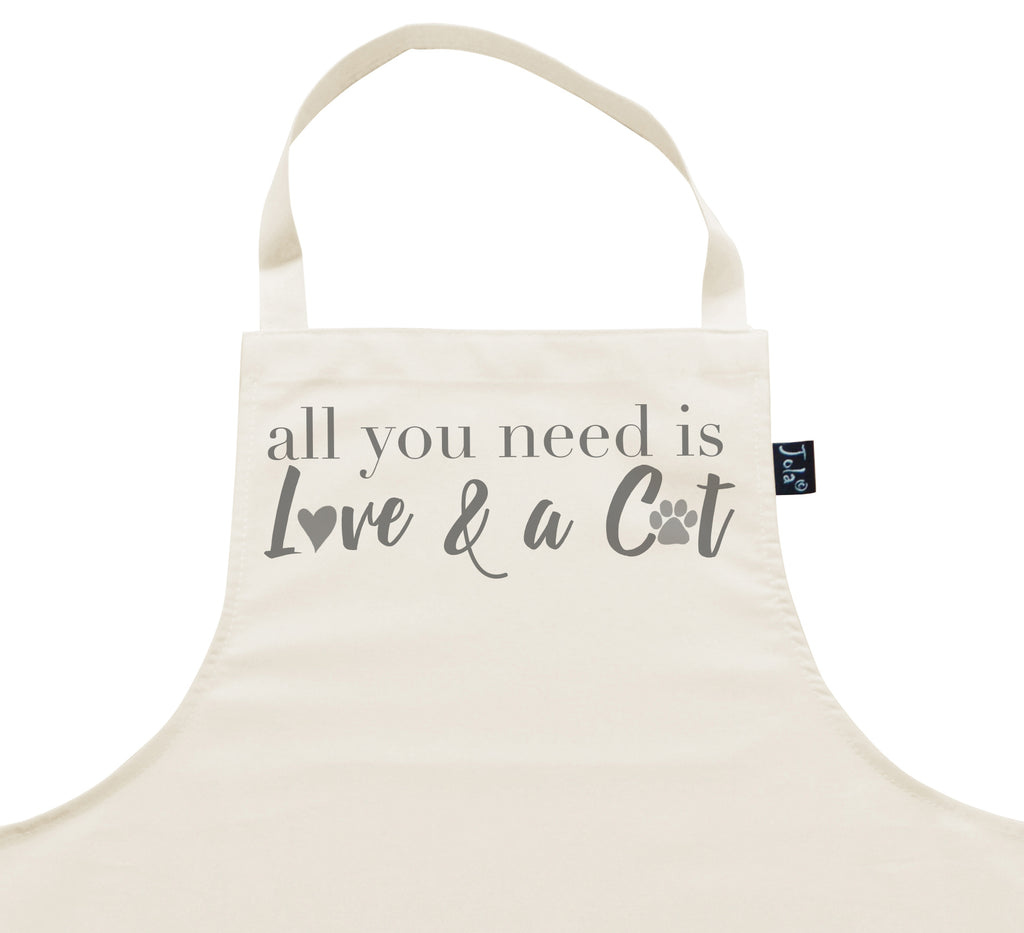 Apron all you need is love and a cat