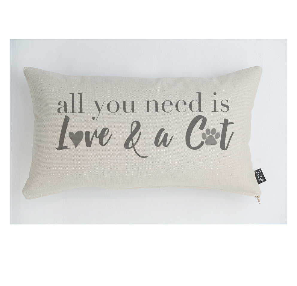 All you need is Love and a Cat cushion