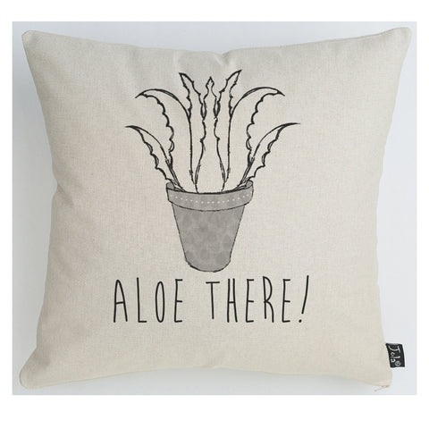 Aloe There Linen Cushion
