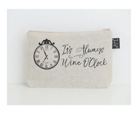 Wine O'Clock small Make Up Bag
