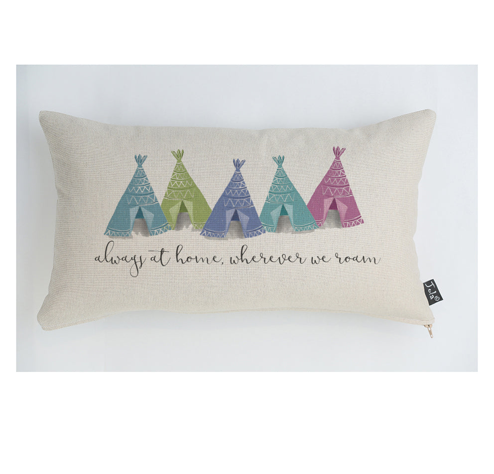 Always at home 5 tents pastel cushion