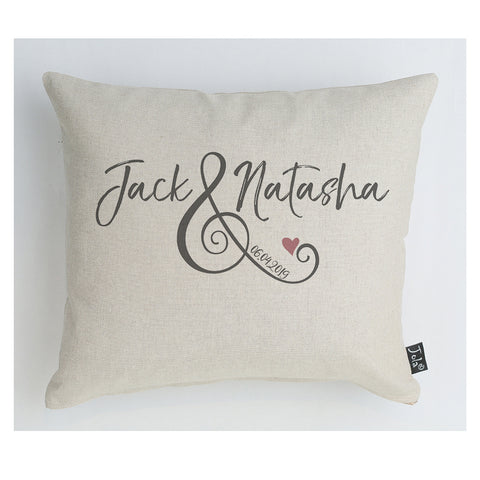 Personalised Wedding Ampersand cushion