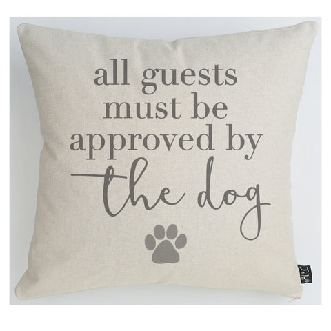 Approved by the Dog large cushion