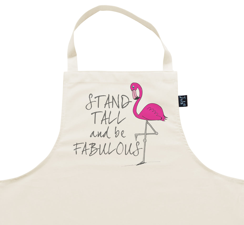 Stand Tall Flamingo Apron