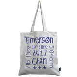 Personalised Baby Words canvas bag