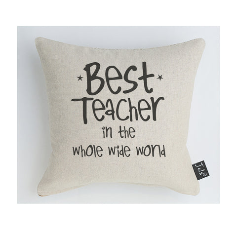 Best Teacher in the whole wide world cushion