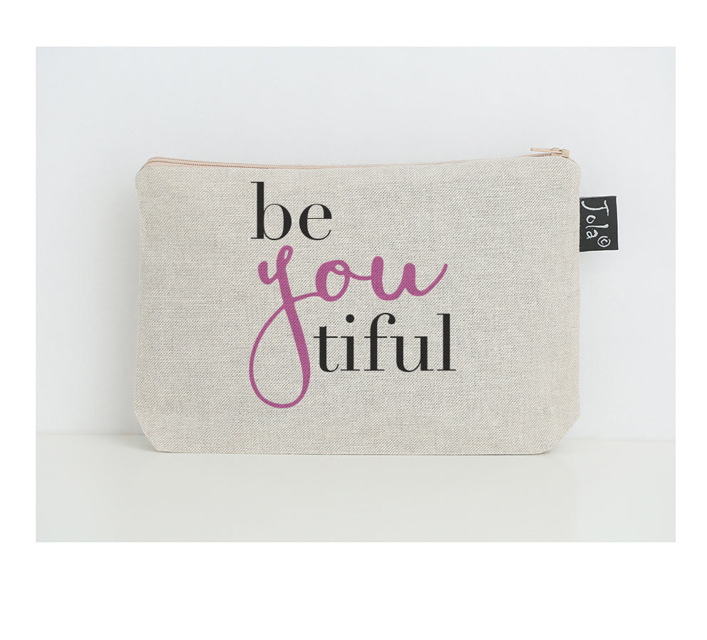 BeYouTiful small make up bag pink