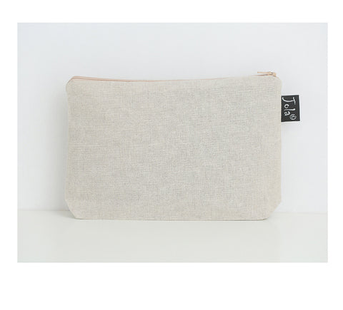 Petite Doodles - linen make up bag