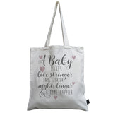 Happier Home pink heart baby canvas bag