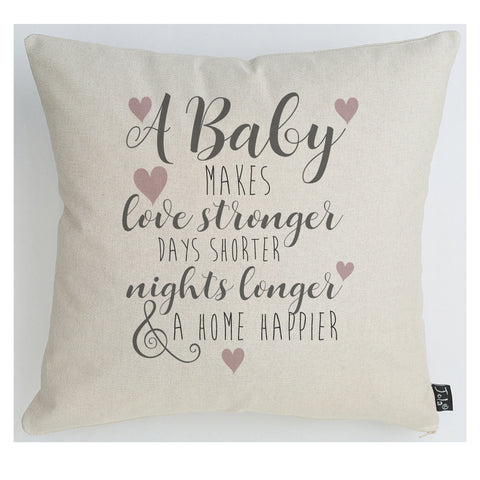 Happier Home pink heart Baby Cushion