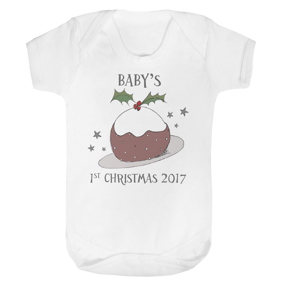 Baby's 1st Christmas Pudding Vest