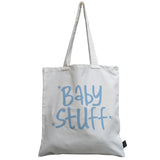 Baby Stuff pink canvas bag