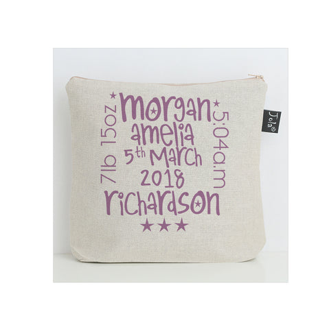Personalised Baby Words Nappy Bag