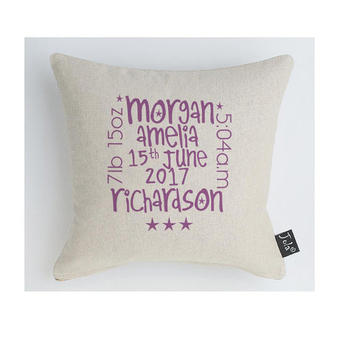 New Baby Personalised words Midi Cushion
