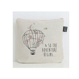 So the adventure begins Balloon Floral washbag