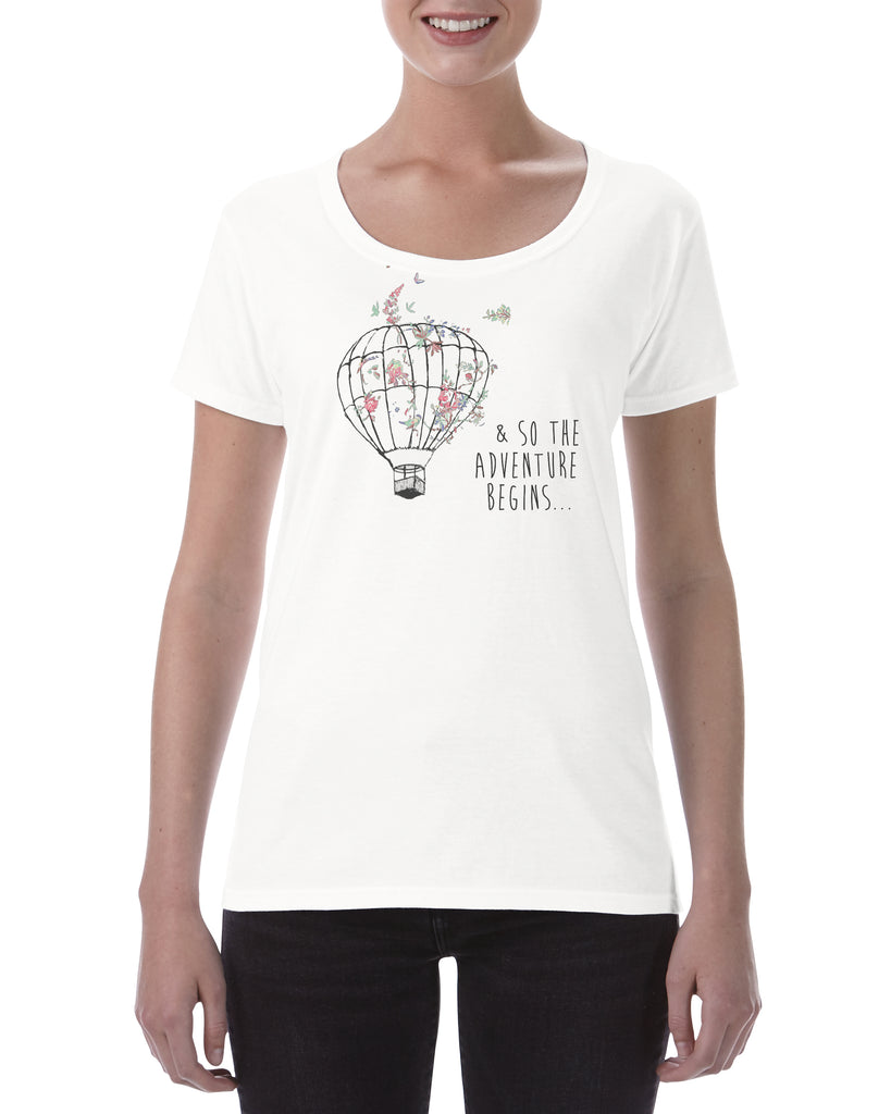 Ladies Cotton T Shirt so the adventure begins