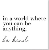 Be kind square card