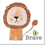 Be brave square card