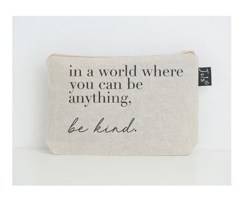 Be Kind small make up bag