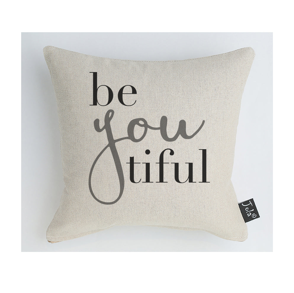 BeYouTiful grey Cushion