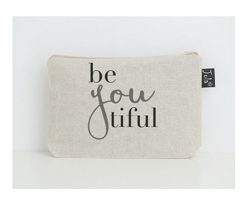 BeYouTiful small make up bag grey