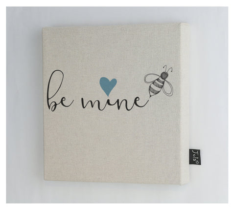 Bee mine blue heart Canvas frame