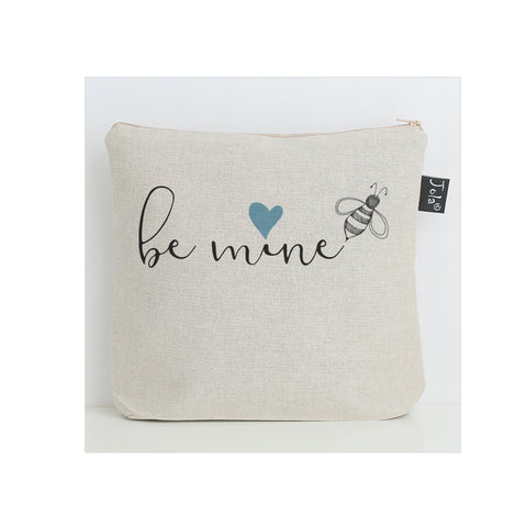 Bee mine blue heart Wash Bag