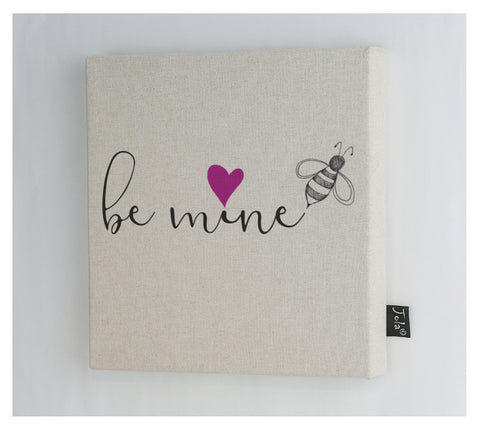 Bee mine pink heart Canvas frame
