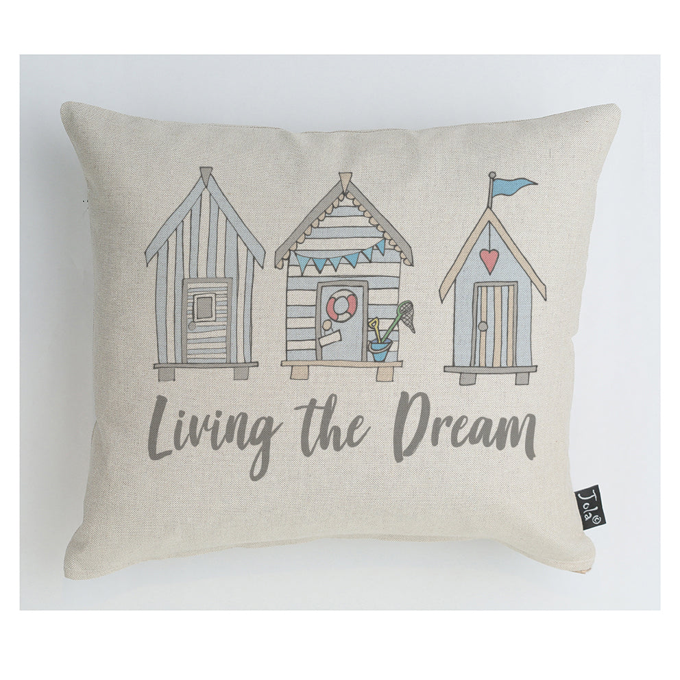 Beach Huts Living the dream cushion