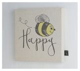 Bee Happy canvas frame