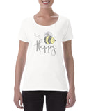 Cotton T Shirt Bee Happy