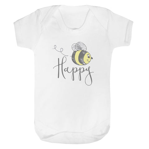Bee Happy baby vest