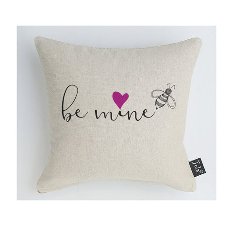 Be Mine pink heart cushion