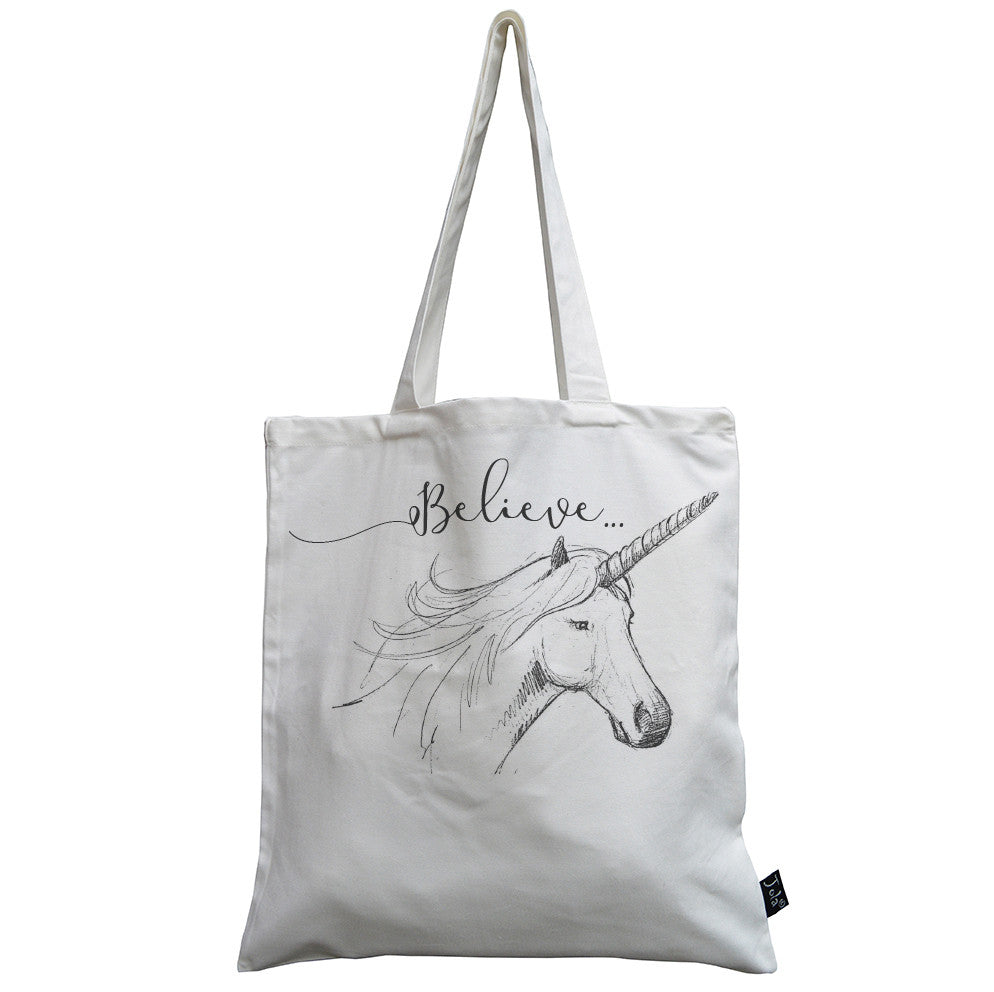 Unicorn Believe canvas bag